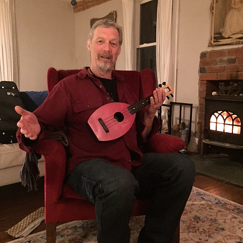Jeff Bird playing ukelele